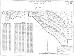 Starlight Pines Ranchettes Unit 1 Plat Map